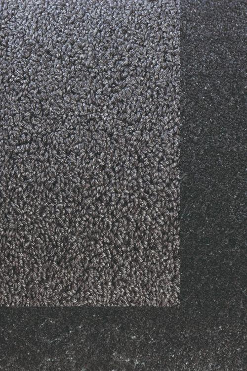 Bild: Schlingenteppich mit Frisee Bordüre Twinset Frame (Anthrazit; 200 x 300 cm)