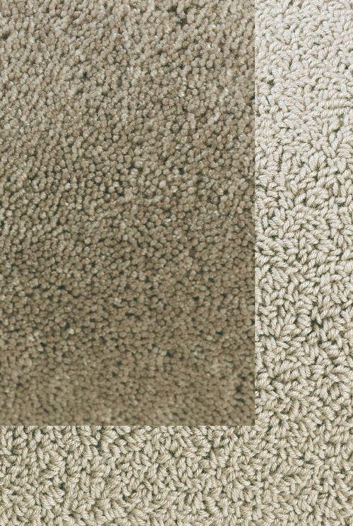 Bild: Frisee Teppich mit Schlingenbordüre Twinset Skyline (Beige; 140 x 200 cm)