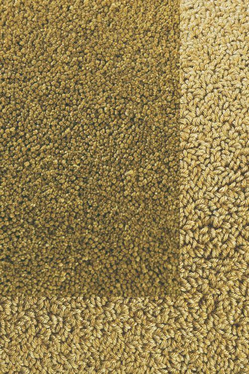 Bild: Frisee Teppich mit Schlingenbordüre Twinset Skyline (Khaki; 200 x 300 cm)