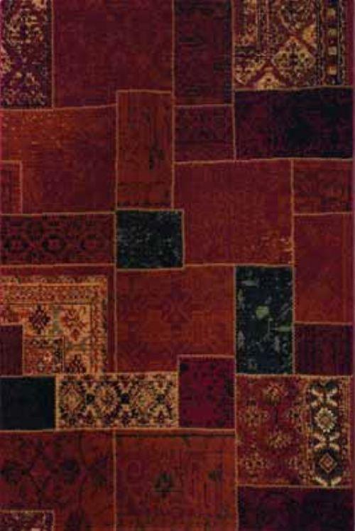 Bild: Patchwork Teppich - - Rot