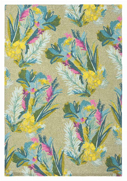 Bild: Designer Schurwollteppich Jungle 18307 - Bunt