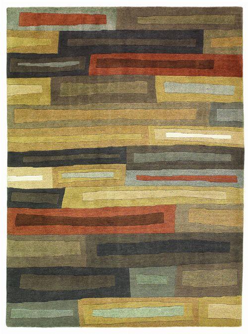 Bild: Designer Schurwollteppich Yara Bricks 199705 - Dunkelbraun