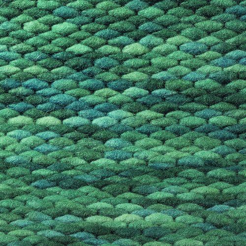 Bild: Teppich Pinto - Meeresblau