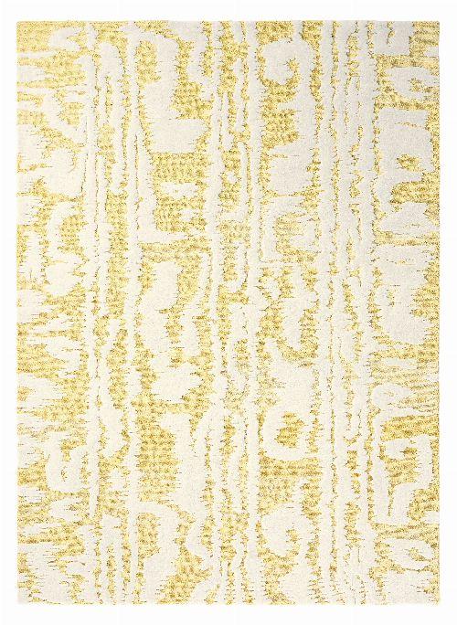 Bild: Florence Broadhurst Designerteppich Waterwave Stripe - Gelb