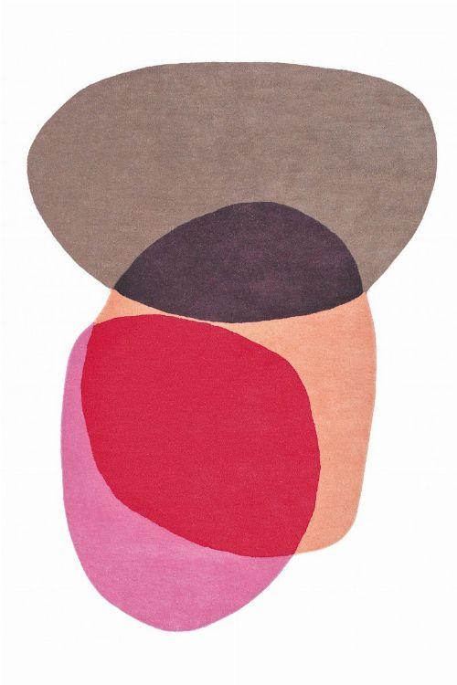 Bild: Designer Schurwollteppich Estella Swatch - Berry