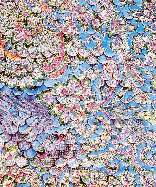 Bild: Eijffinger Fototapete Sundari 375209 - Scallop Wall - Blau