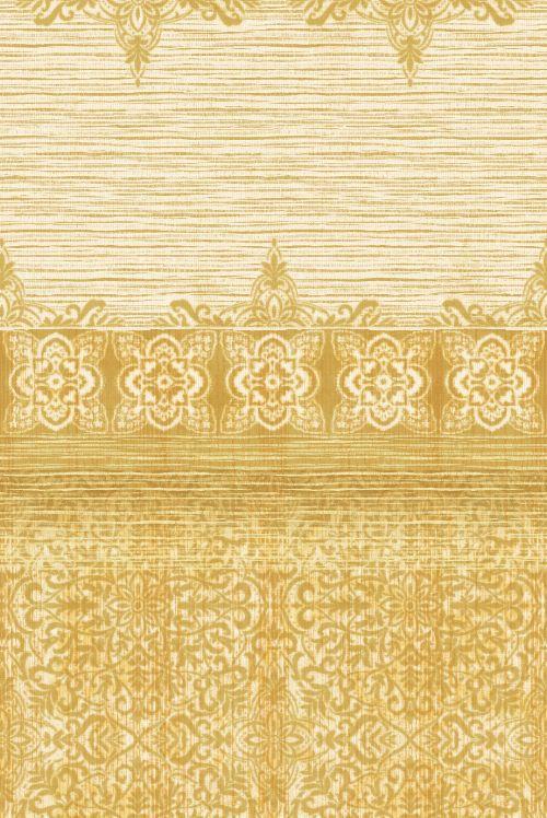 Bild: Eijffinger Tapeten Panel Sundari 375215 - Taj - Gelb