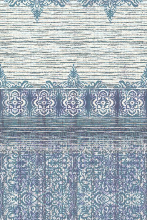 Bild: Eijffinger Tapeten Panel Sundari 375216 - Taj - Blau