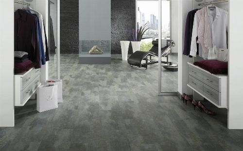 Bild: Antigua Infinity -Designvinyl Sheets - Fliesen Optik - Schiefer grigio
