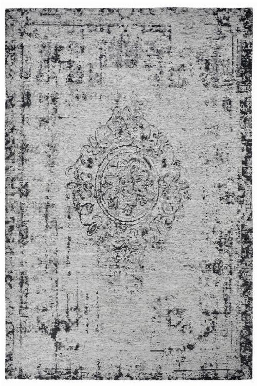 Bild: Jaquard Flachgewebe Teppich - Vintage Ornament - Grau