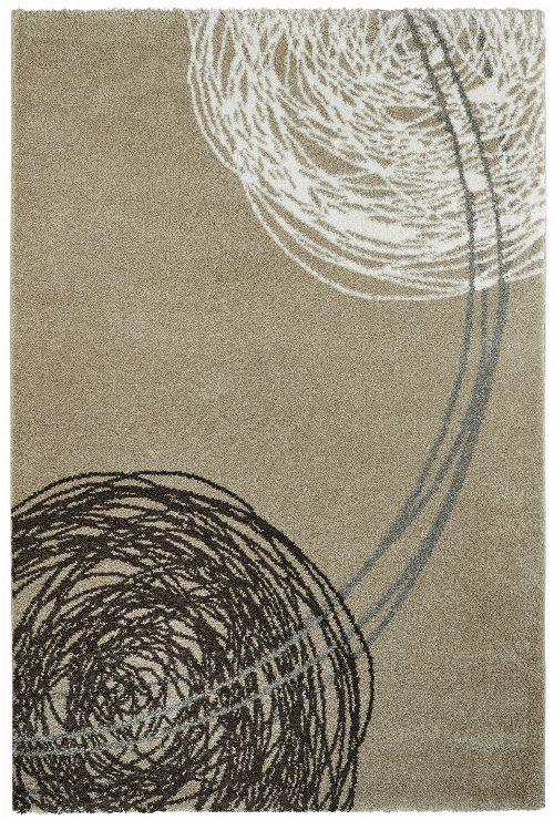 Bild: Moderner Teppich - Fantasy Lines - Sand