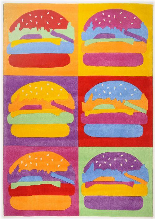 Bild: Kinderteppich Menorca Burger - Bunt