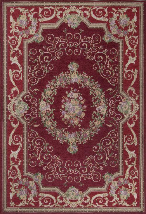 Bild: Klassischer Bordürenteppich Florentina - Rot