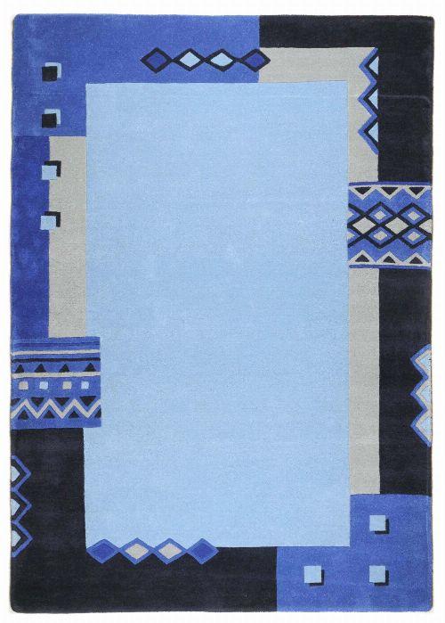 Bild: Schurwollteppich Florida (Blau; 200 x 200 cm)