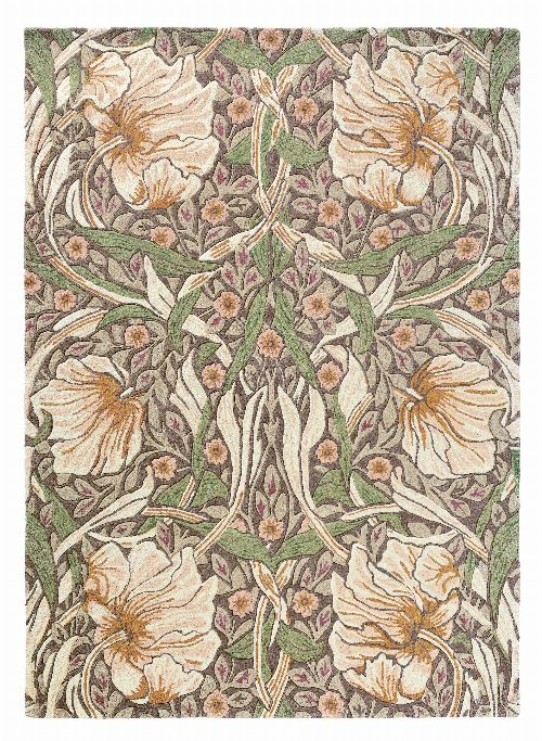 Bild: Morris & Co. Designerteppich Pimpernel (Aubergine; 200 x 280 cm)