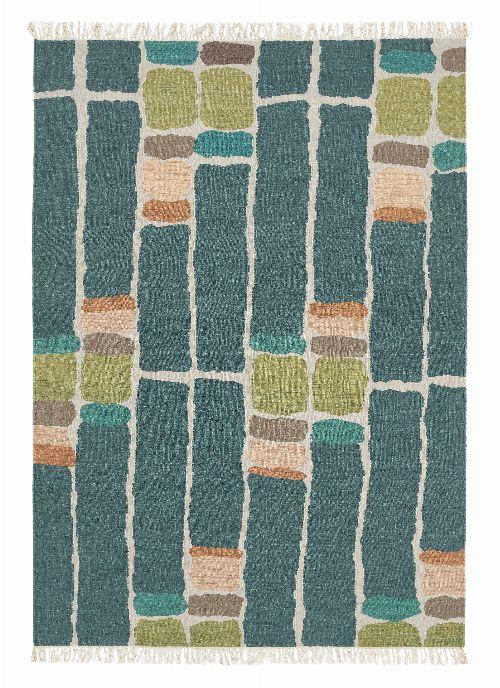 Bild: Brink&Campman Teppich Kashba stack (Blaugrün; 250 x 350 cm)