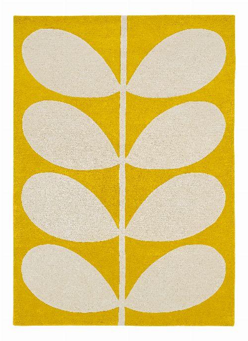 Bild: Orlay Kiely Designerteppich Yellow Stem - Gelb