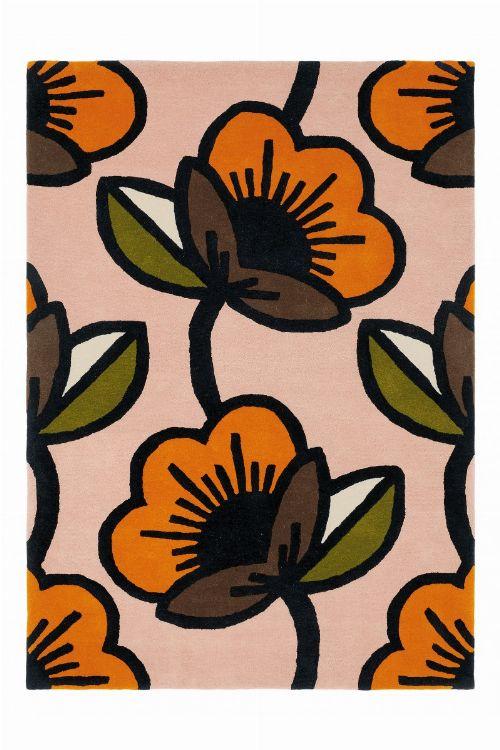 Bild: Orla Kiely Designerteppich Passion Flower Pink (Pink; 200 x 280 cm)