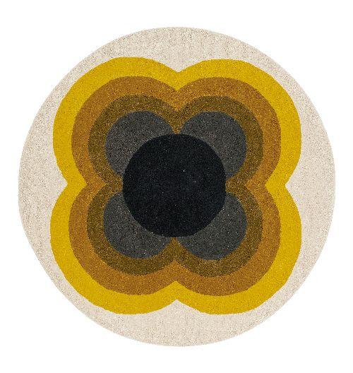 Bild: Orla Kiely Designerteppich Sunflower Pink (Yellow; wishsize)