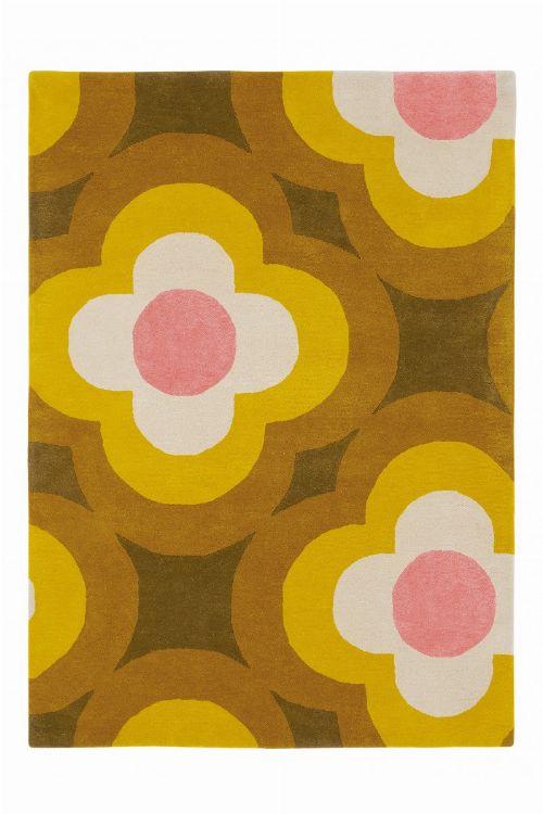 Bild: Orla Kiely Designerteppich Pulse Yellow (Yellow; 160 x 230 cm)
