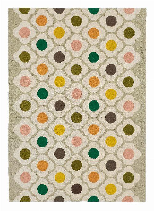 Bild: Orla Kiely Designerteppich Spot Flower Multi (Bunt; 160 x 230 cm)