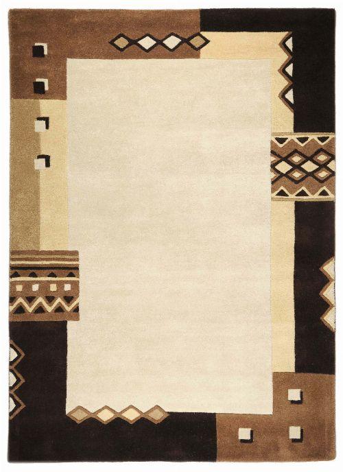 Bild: Schurwollteppich Florida (Braun; 200 x 200 cm)