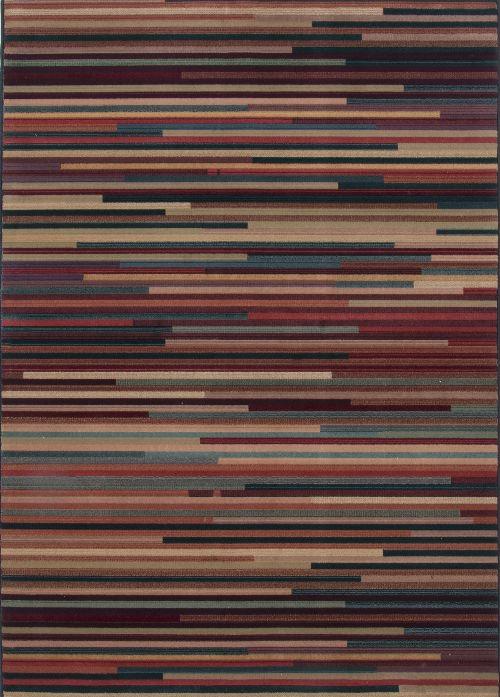 Bild: Streifenteppich Gabiro Des.1728 (Multicolor; 200 x 200 cm)