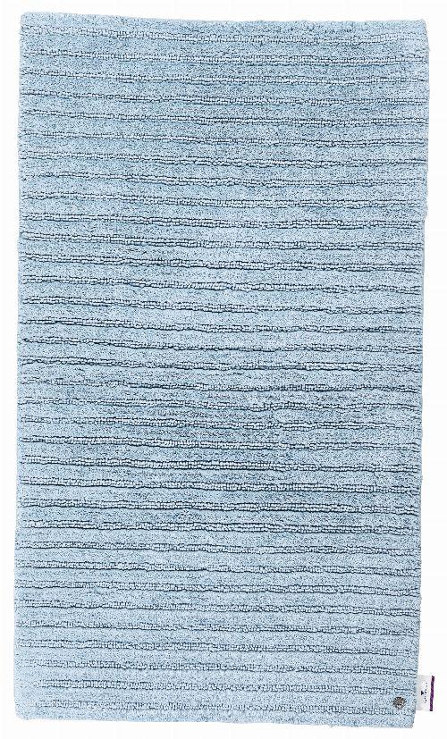 Bild: Tom Tailor Badezimmerteppich Cotton Stripe (Blau; 100 x 60 cm)