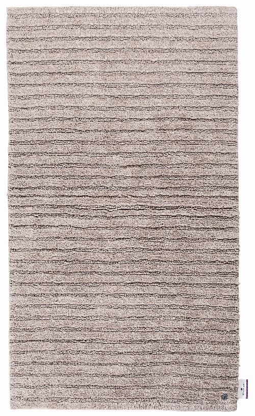 Thumbnail: Tom Tailor Badezimmerteppich Cotton Stripe (Sandbeige; 60 x 60 cm)