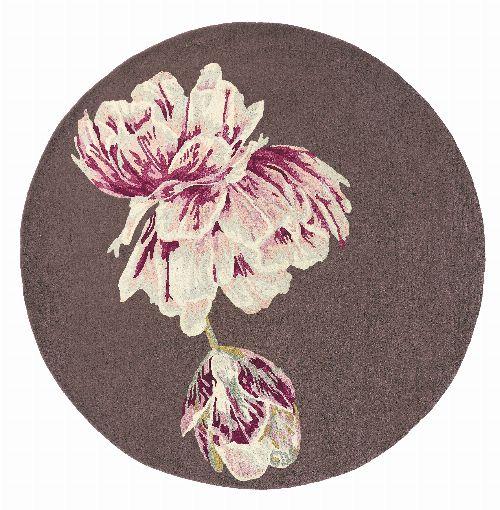 Bild: Designer Teppich Ted Baker Tranquility - Rund (Aubergine; 150 x 150 cm)