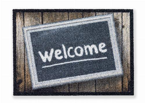 Bild: ASTRA Sauberlaufmatte - Deco Brush Welcome Schild (Welcome Schild)