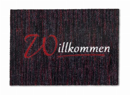 Bild: ASTRA Schmutzfangmatte - Felicido Willkommen (Rot)