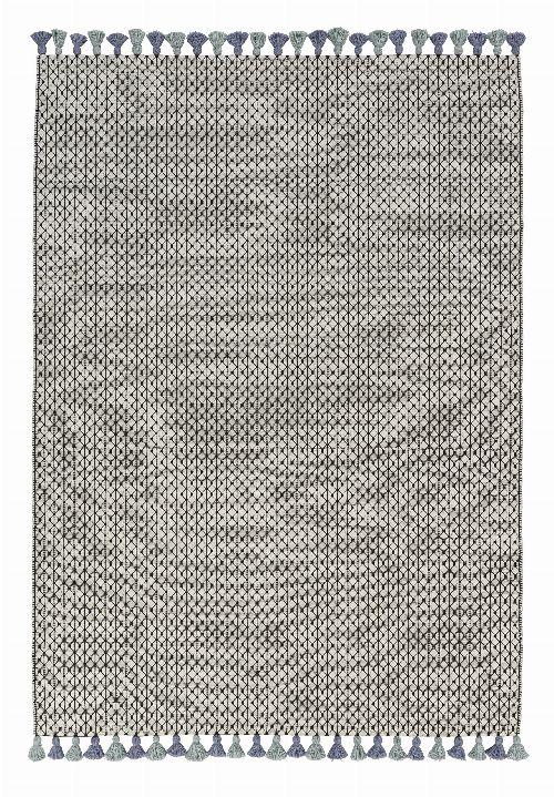 Bild: Schöner Wohnen Kelim Teppich Insula (Blau/Grün; 200 x 140 cm)