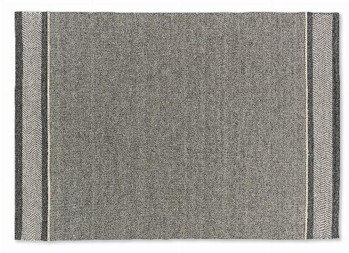 Bild: SCHÖNER WOHNEN Flachgewebeteppich - Botana Blockstreifen (Beige/Grau; 200 x 140 cm)