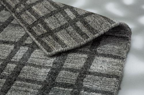 Bild: SCHÖNER WOHNEN Flachgewebeteppich - Cosetta Gitter (Grau; 240 x 170 cm)