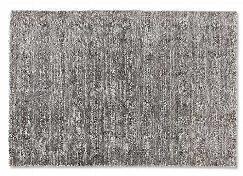 Bild: SCHÖNER WOHNEN Flachgewebeteppich - Alessa Streifen (Silber; 240 x 170 cm)