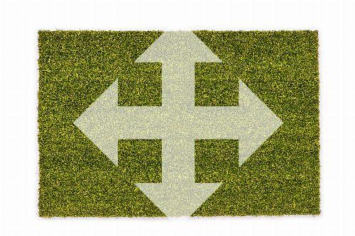 Bild: ASTRA Kokosmatte Kokosvelours Colors - individuelles Wunschmaß - Grün
