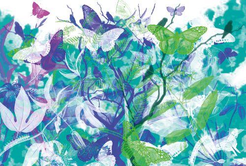 Bild: AP Digital - Butterfly Garden - 150g Vlies (5 x 3.33 m)