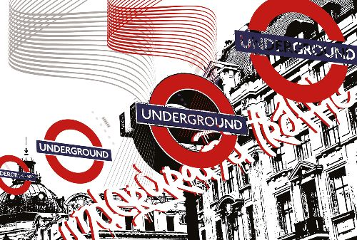 Bild: AP Digital - Underground Traf - 150g Vlies (2 x 1.33 m)