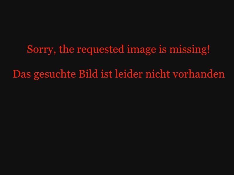 Bild: Kurzflor Teppich  Funky - Blumen - (Schwarz; 160 x 230 cm)