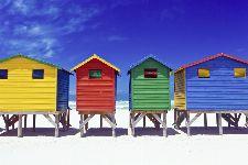 Bild: AP XXL2 - Colorful Houses - 150g Vlies (2 x 1.33 m)