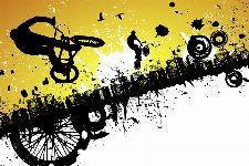 Bild: AP XXL2 - BMX Riders  - 150g Vlies (4 x 2.67 m)