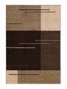 Bild: Kurzflor Teppich Samoa - Formen Mix (Haselnuss; 140 x 200 cm)