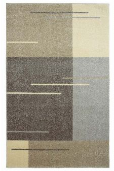 Bild: Kurzflor Teppich Samoa - Formen Mix (Beige; 200 x 290 cm)