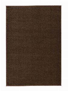 Bild: Kurzflor Teppich Samoa - Uni Design (Erde; 67 x 130 cm)