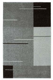 Bild: Kurzflor Teppich Samoa - Formen Mix (Grau; 67 x 130 cm)