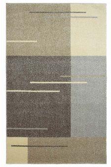Bild: Kurzflor Teppich Samoa - Formen Mix (Beige; 67 x 130 cm)