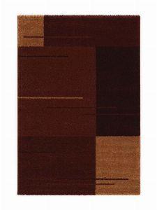 Bild: Kurzflor Teppich Samoa - Formen Mix (Bordeaux; 67 x 130 cm)