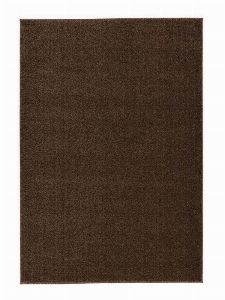 Bild: Kurzflor Teppich Samoa - Uni Design (Erde; 160 x 230 cm)