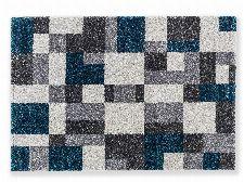 Bild: Astra Hochflor Teppich Savona - Kästchen (Petrol; 190 x 133 cm)